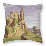 Gight Castle, 1851 Throw Pillow