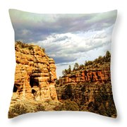 Gila Cliff Dwellings National Monument Throw Pillow