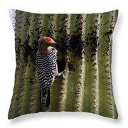 Gila Woodpecker Throw Pillow
