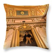 Gilded Ceiling Throw Pillow