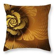 Gilded Flower Throw Pillow by John Edwards