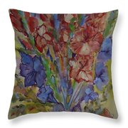Gilded Flowers Throw Pillow