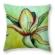 Gilded Lily Throw Pillow