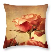 Gilded Roses Throw Pillow