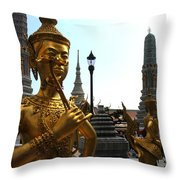 Gilded Statues Of Gods At The Grand Throw Pillow