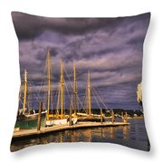 Gilded Vessels Throw Pillow