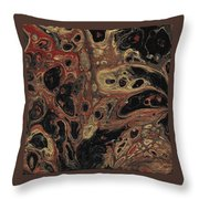 Gilded Wing Throw Pillow