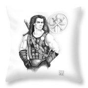 Giles Dancer Throw Pillow