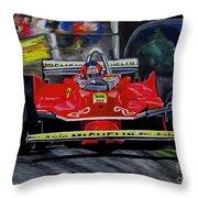Gilles Villeneuve At The Limit Throw Pillow