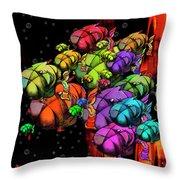 Tanked - Possumponderouspottomas Throw Pillow