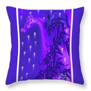 Gilly The Giraffe-by Sherri Of Palm Springs Throw Pillow