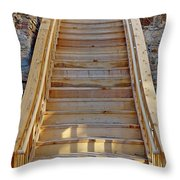 Gilpin County Museum Stairs Throw Pillow