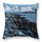 Gimsoy, Lofoten - Norway Throw Pillow