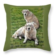 Gina And Boomer Throw Pillow