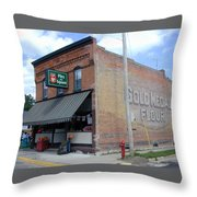Gina's Pies Are Square Throw Pillow by Mark Czerniec
