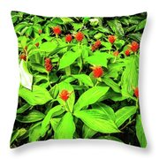 Ginger Flowers Throw Pillow