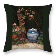 Ginger Jar Throw Pillow