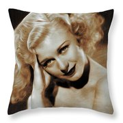 Ginger Rogers, Actress Throw Pillow