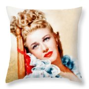 Ginger Rogers By John Springfield Throw Pillow