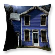 Gingerbread Gothic Throw Pillow