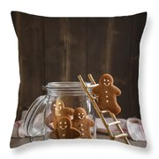 Gingerbread Men Throw Pillow