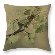 Gingko Branch Throw Pillow
