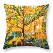 Gingko Tree Throw Pillow