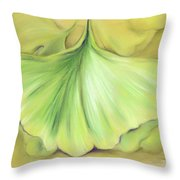 Ginkgo On The Cusp Of Autumn Throw Pillow