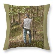 Ginseng Hunting Throw Pillow