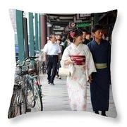 Gion Stroll Throw Pillow