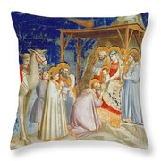 Giotto: Adoration Throw Pillow by Granger