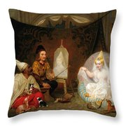 Giovanni Bellini In Mahomet II's Court Throw Pillow