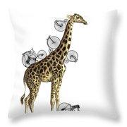 Giraffe And Bicycles Throw Pillow