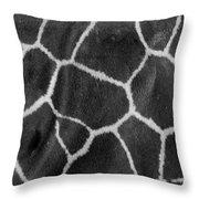 Giraffe Black And White Throw Pillow