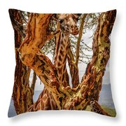 Giraffe Camouflage Throw Pillow