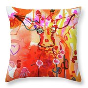 Giraffe Delightful Deborah Throw Pillow