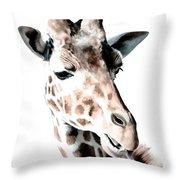 Giraffe II Throw Pillow