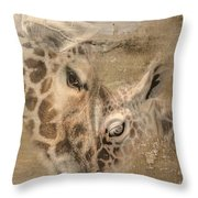 Giraffes, Big And Small Throw Pillow