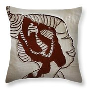 Girl - Tile Throw Pillow