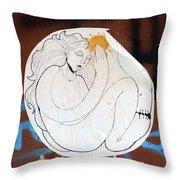 Girl And Sun Throw Pillow