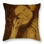 Girl Dancing Throw Pillow