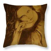 Girl Dancing Throw Pillow