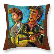 Girl From North Country Johnny Cash And Bob Dylab Throw Pillow