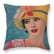 Girl From The Twenties Throw Pillow
