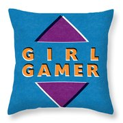 Girl Gamer Throw Pillow