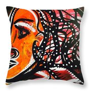 Girl In A Fast Car Throw Pillow