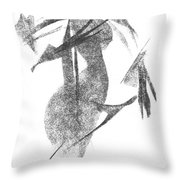 Girl, In Abstract Throw Pillow
