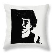 Girl In Shadow Throw Pillow by Sheri Buchheit