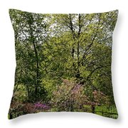 Girl In The Meadow Throw Pillow