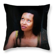Girl In The Pool 17 Throw Pillow